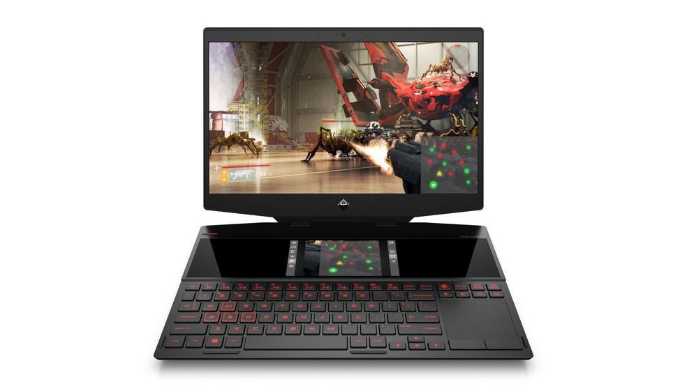 Notebook de duas telas pode vir com Core i9 e RTX 2080 Max-Q � Foto: Divulgação/HP