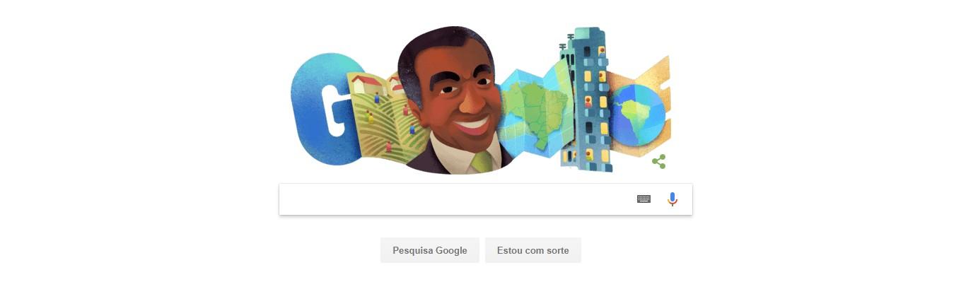 Doodle Milton Santos (Foto: Reprodução/Google)