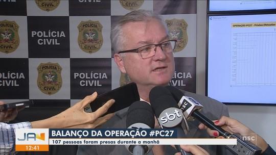 Polícia Civil cumpre mandados para prender foragidos da Justiça em SC