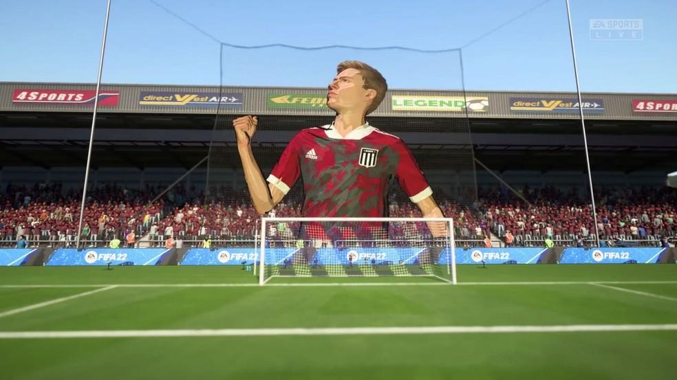 Moisacos são formados pela torcida mostrando em destaque o melhor jogador da partida — Foto: Divulgação/FIFA 22