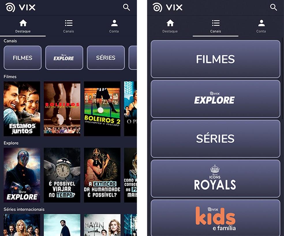 VIX Cine e TV foi lançada no Brasil em agosto de 2020 — Foto: Reprodução/Luana Antunes