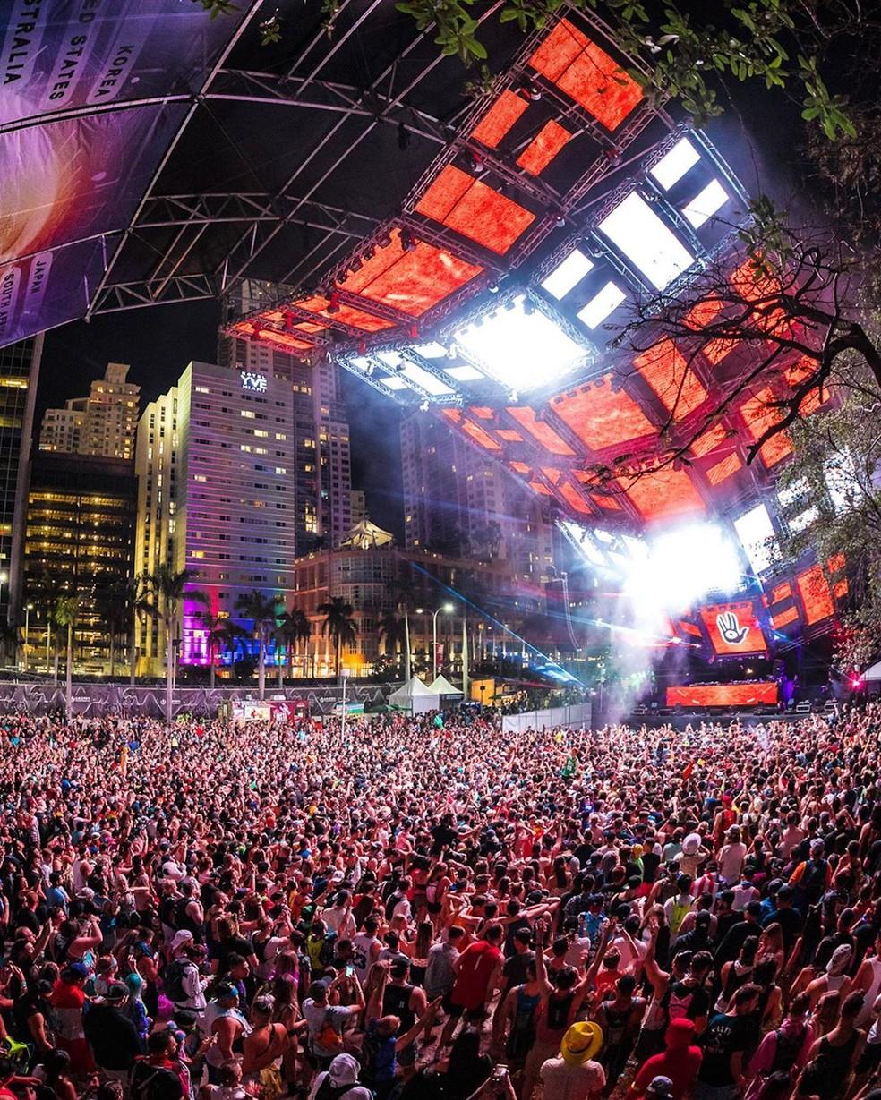 Ultra Music Festival, evento de música eletrônica em Miami, foi cancelado por conta do coronavírus — Foto: Reprodução/Instagram/Ultra