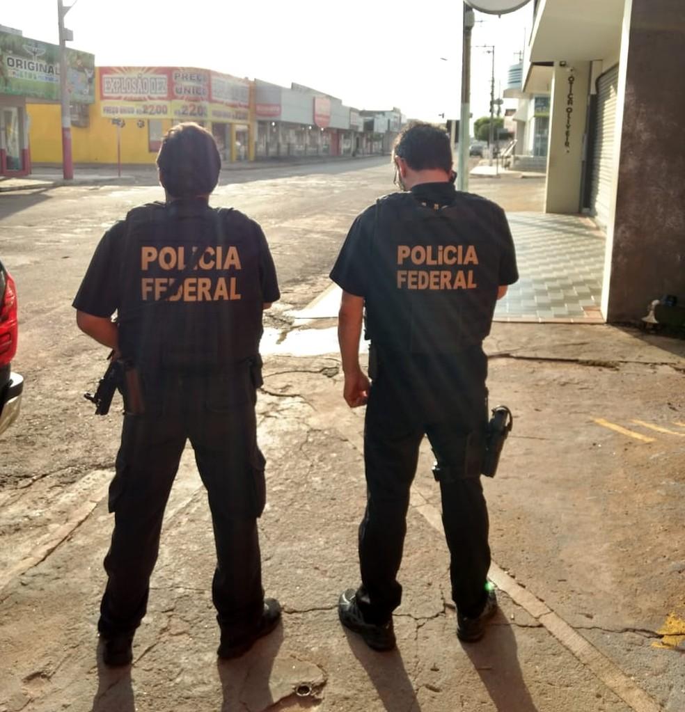 Operação da PF ocorre em Pontes e Lacerda, Cuiabá e Goiânia — Foto: Polícia Federal de Mato Grosso/Assessoria