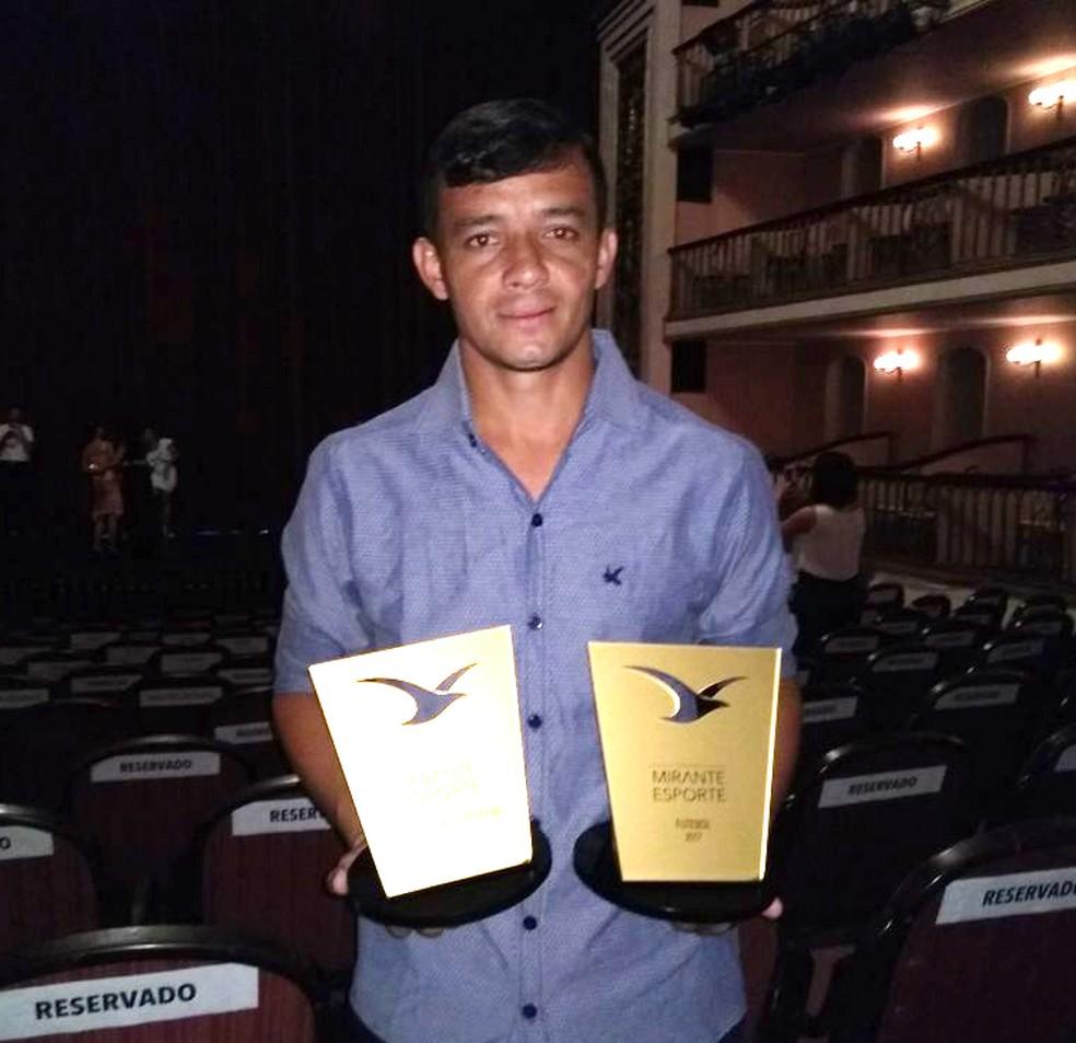 Ulisses foi eleito atleta do ano de 2017 pelo júri oficial (Foto: Afonso Diniz / GloboEsporte.com)