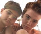 Mariah de Moraes com o filho, João Pedro | Reprodução
