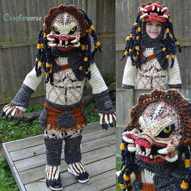 Jack com fantasia de crochê de O Predador (Foto: Reprodução/Twitter)