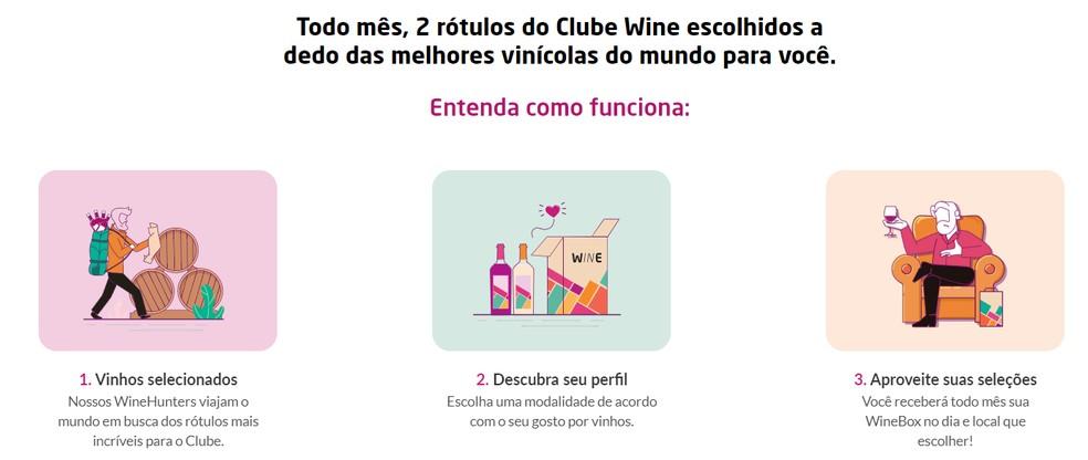 Clube Wine é voltado para amantes de vinhos — Foto: Reprodução/Clube Wine