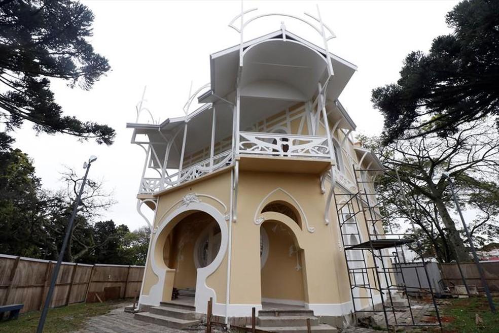 Espaço vai abrigar a nova sede da Academia de Letras do Paraná, segundo a Prefeitura de Curitiba — Foto:  Lucilia Guimarães/SMCS