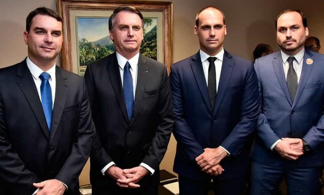 Flávio, Jair, Eduardo e Carlos: os Bolsonaro