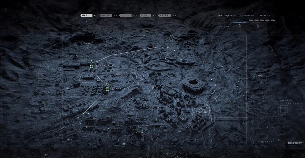 Mapa do sistema subterrâneo de metrô — Foto: Reprodução