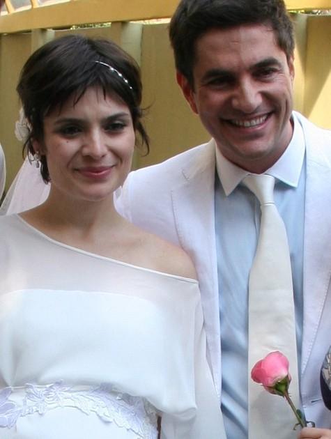 Arieta Corrêa e o ator Rodrigo Veronese durante seu casamento em 2008 (Foto: Divulgação)