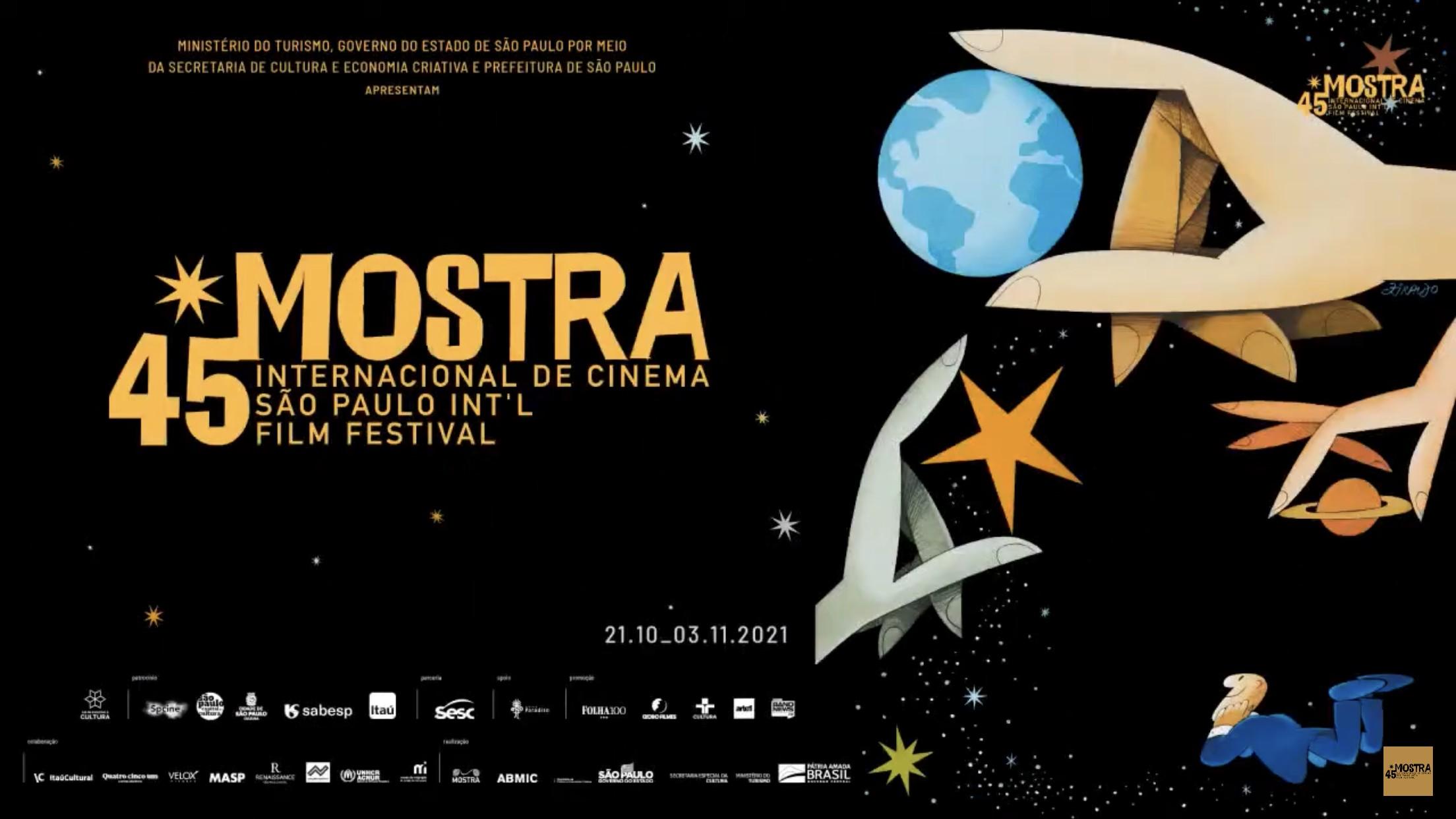 45ª Mostra Internacional de Cinema de São Paulo começa nesta quinta com opção de sessões presenciais e virtuais