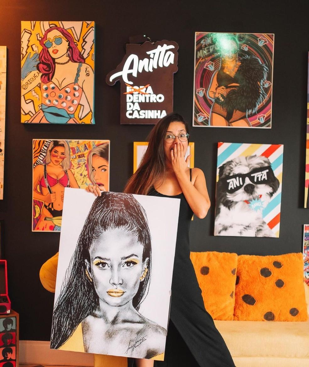 Juliette passa temporada na casa de Anitta — Foto: Reprodução/Instagram