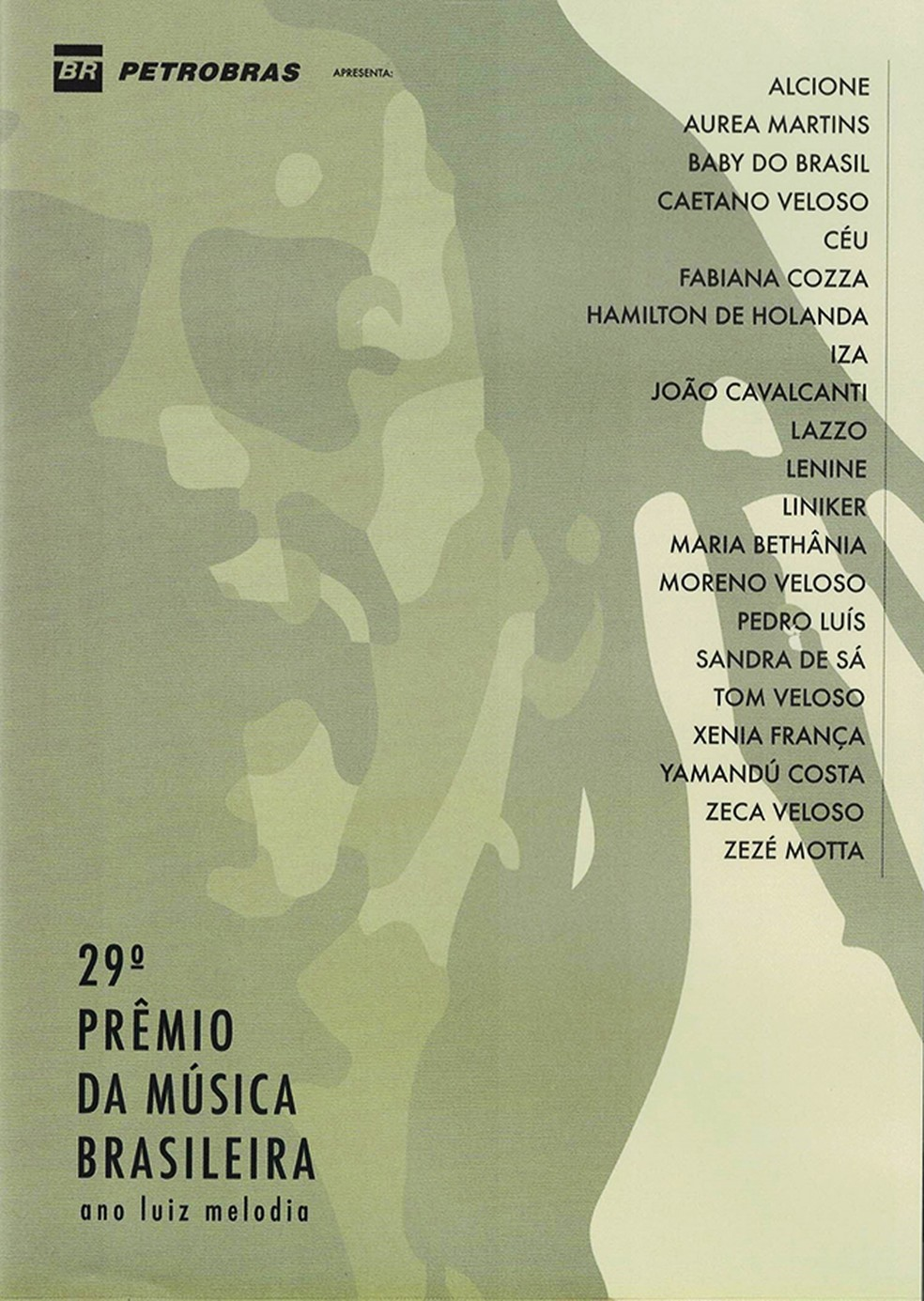 Capa do DVD '29º Prêmio da Música Brasileira – Ano Luiz Melodia' — Foto: Divulgação