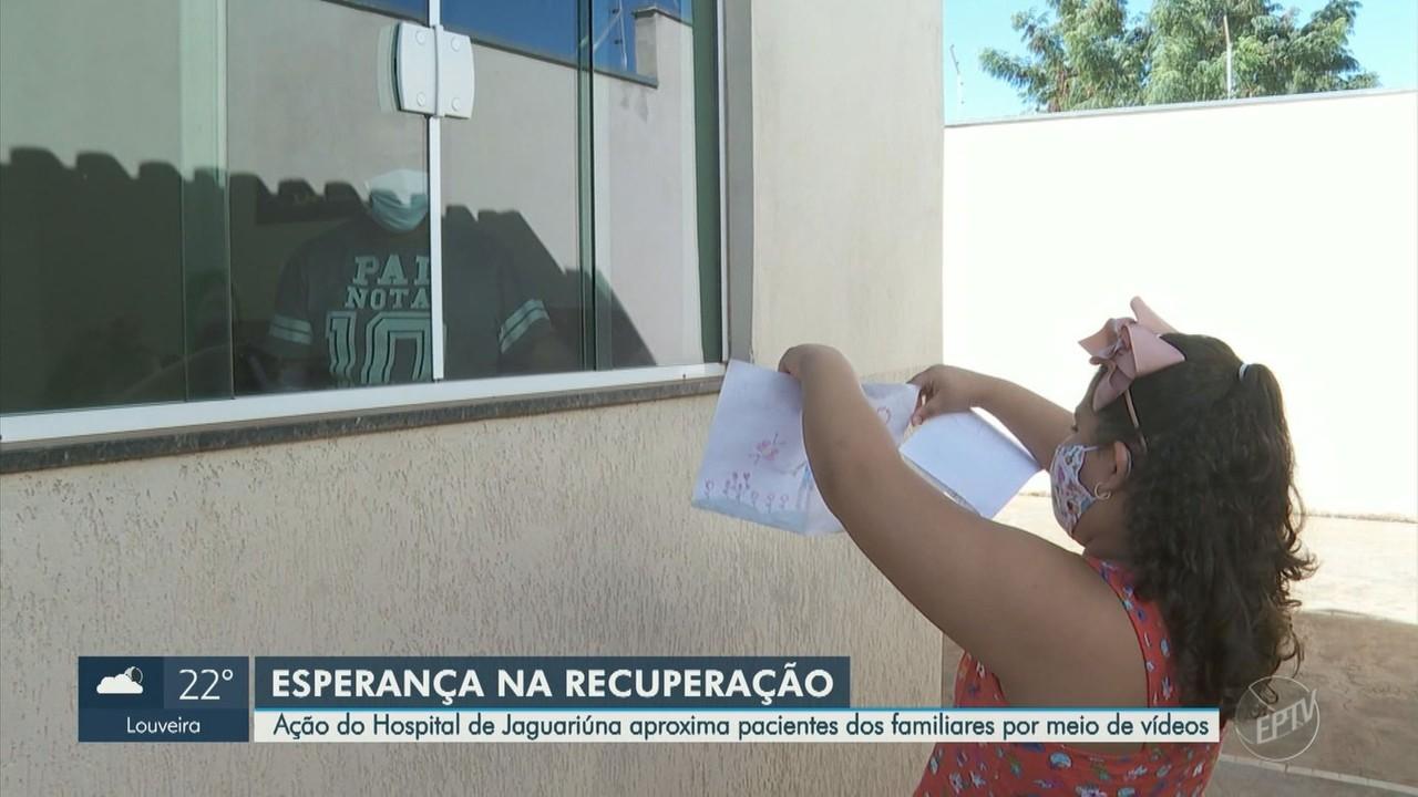 Hospital de Jaguariúna realiza ação para aproximar pacientes internados da família