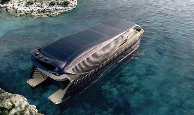 Iate movido a energia solar é capaz de viajar o mundo sem parar para reabastecer (Foto: Reprodução)