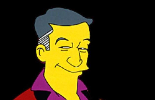 Em 1993, Hefner virou personagem de dos episódios da série 'Os Simpsons', da Fox (Foto: Divulgação)