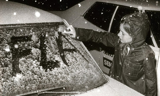 Neve na Flórida Central em 1977