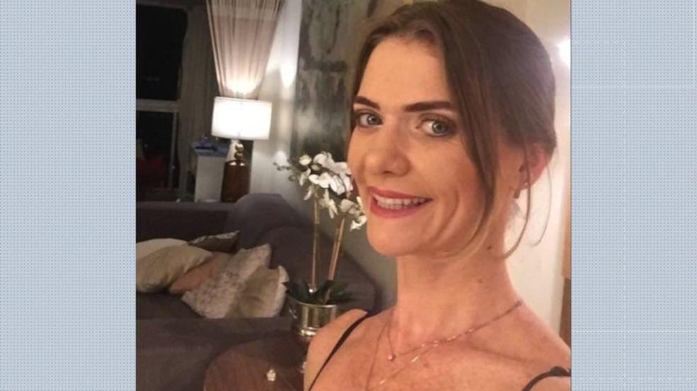 A empresária Simone Venturini Tonani morreu após ser atingida por uma barra de ferro na cabeça, em Vila Velha — Foto: Reprodução/TV Gazeta