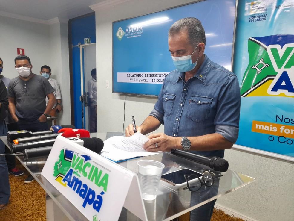 Covid-19: Amapá endurece medidas por 7 dias; Waldez Góes fala em 'lockdown' — Foto: Victor Vidigal/G1