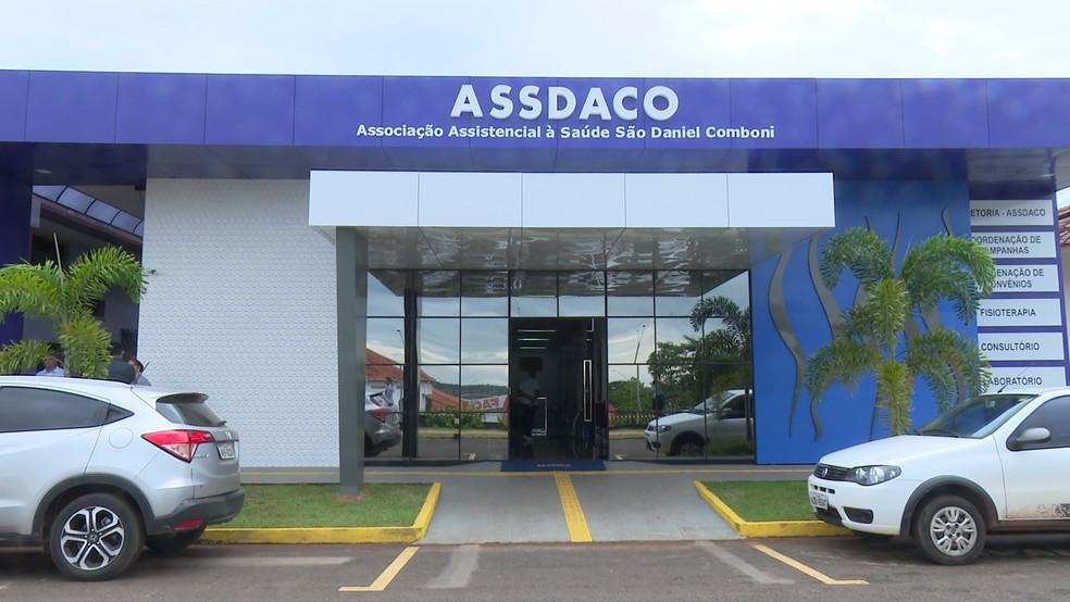 Associação Assistencial a Saúde São Daniel Comboni (Assdaco), mantenedora do Hospital do Câncer de Cacoal (Foto: Rede Amazônica/Reprodução)