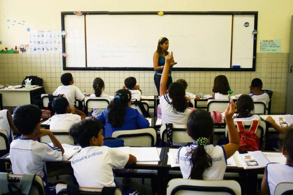 Quem se forma em pedagogia pode trabalhar dando aulas em creches, na pré-escola ou nos anos iniciais do ensino fundamental (Foto: Reprodução/G1)