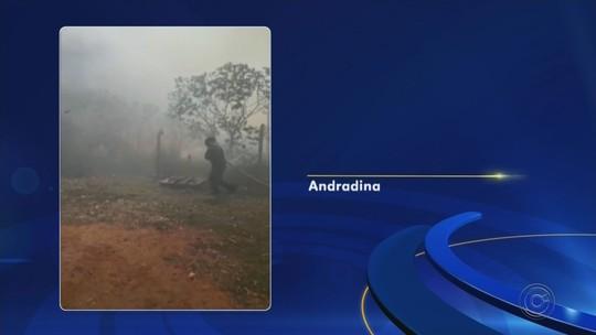 Incêndio atinge área de pastagem e de preservação ambiental em Andradina
