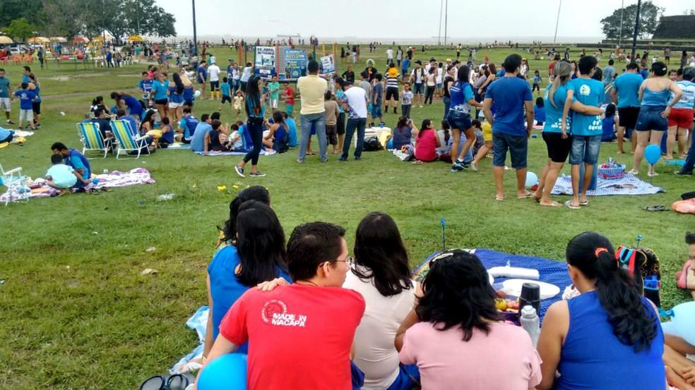 Piquenique Azul ocorrerá no domingo, 31, no Parque do Forte — Foto: AMA-AP/Divulgação