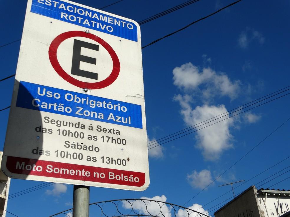 Valor de cartão da Zona Azul aumenta em Votuporanga (Foto: Prefeitura de Piedade/Divulgação)