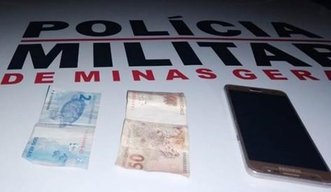 PM prende suspeito de assaltar loja de roupas em Leopoldina