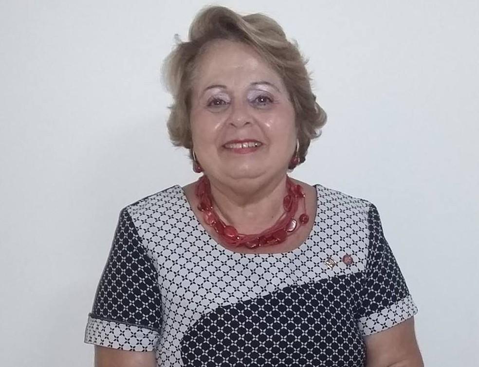 Livia Maria Pio de Abreu, candidata à Presidência em 1989 pelo extinto PN, em foto recente — Foto: Livia Maria Pio de Abreu/Reprodução/Facebook