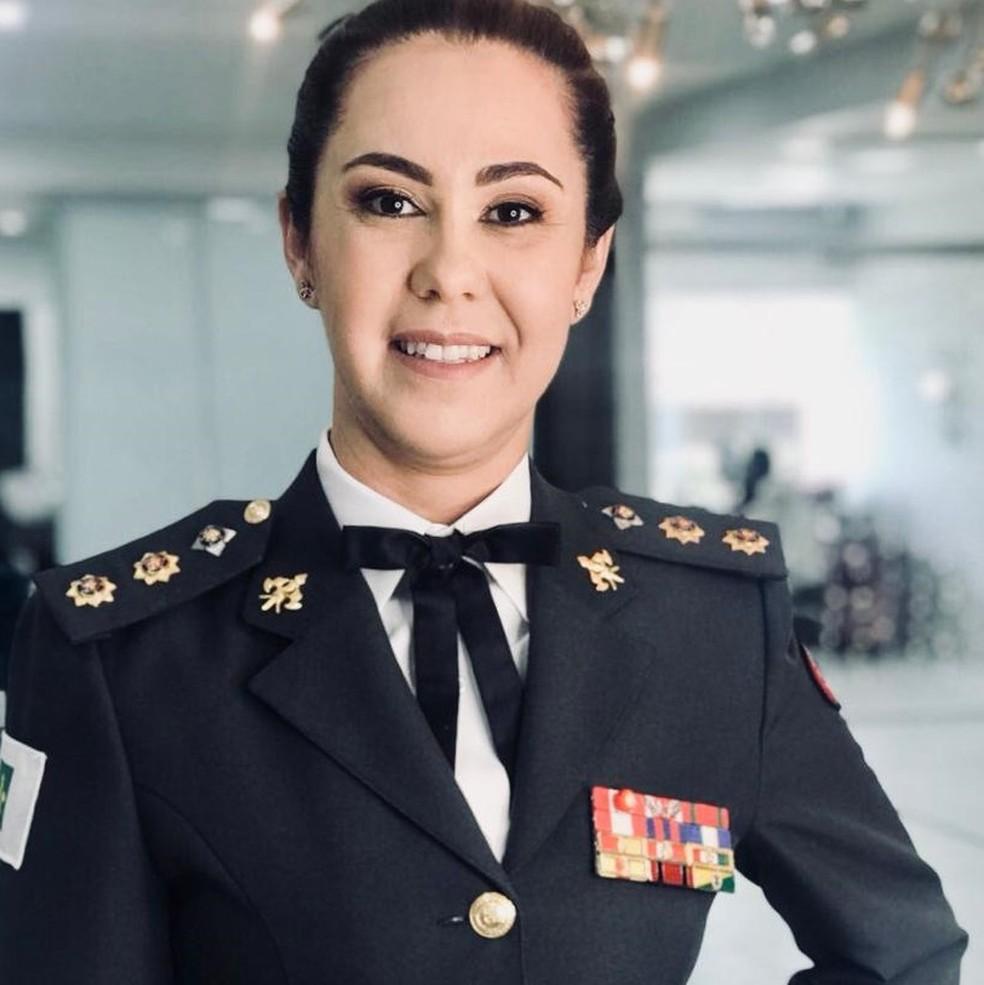 A tenente-coronel do Corpo de Bombeiros do Distrito Federal Márcia Amarílio da Cunha Silva — Foto: Reprodução