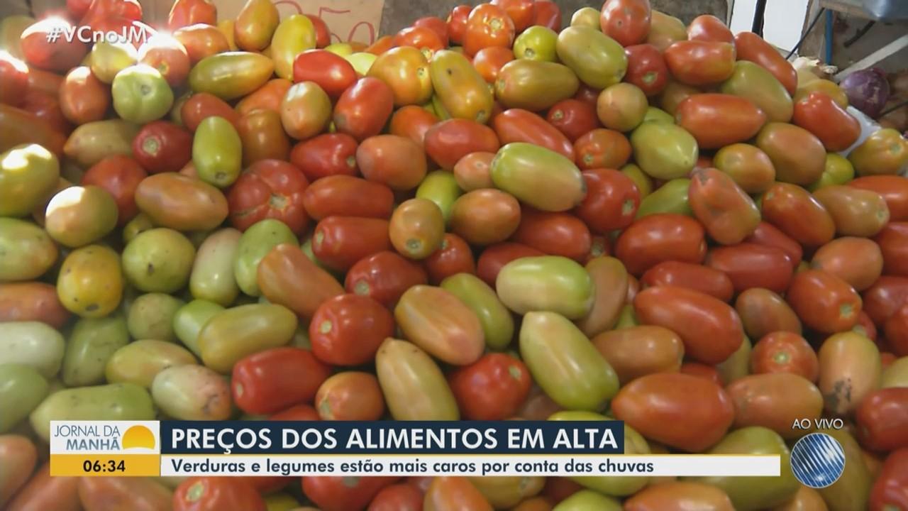 Aumento dos preços de legumes e verduras pesa no orçamento das famílias baianas