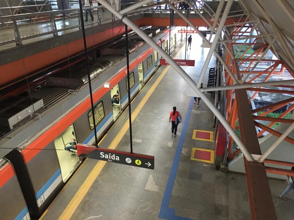 Estação do Metrô no Acesso Norte — Foto: Phael Fernandes/ G1