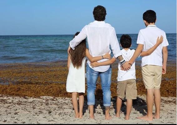 Marcos Mion com os filhos (Foto: Marcela Barros Fotos)