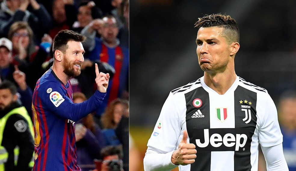 Messi e Cristiano Ronaldo: Sem spoilers, ok? Beleza! — Foto:  EFE/Alberto Estévez e REUTERS/Daniele Mascolo