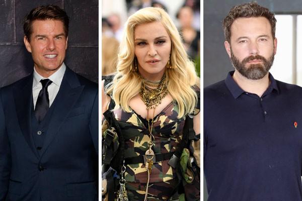 Tom Cruise, Madonna e Ben Affleck já tiveram passagens da infância reveladas por ex-colegas da infância ou amigos ainda presentes (Foto: Getty Images)
