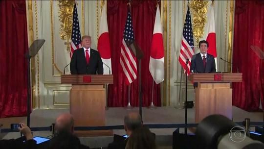 No Japão, Trump diz que não se importa com testes de mísseis da Coreia do Norte