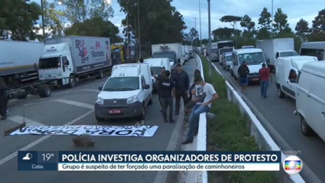 Polícia investiga organizadores de protesto na Marginal Tietê e na Rodovia Castello Branco