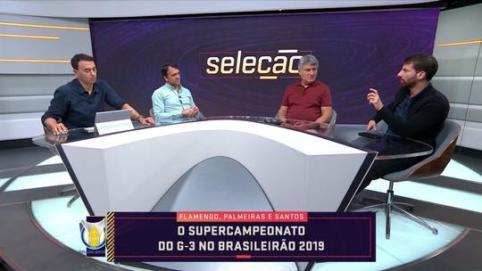 """No Seleção, comentaristas falam sobre  o """"super"""" G3 do Brasileiro; Jesus, do Flamengo, ganha elogios"""