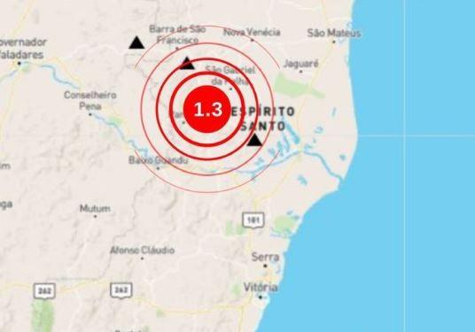 Tremor de terra é registrado no Noroeste do ES