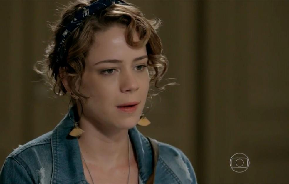 Em 'Império', Cristina (Leandra Leal) conta sua história e pede a ajuda de José Alfredo (Alexandre Nero) — Foto: Globo