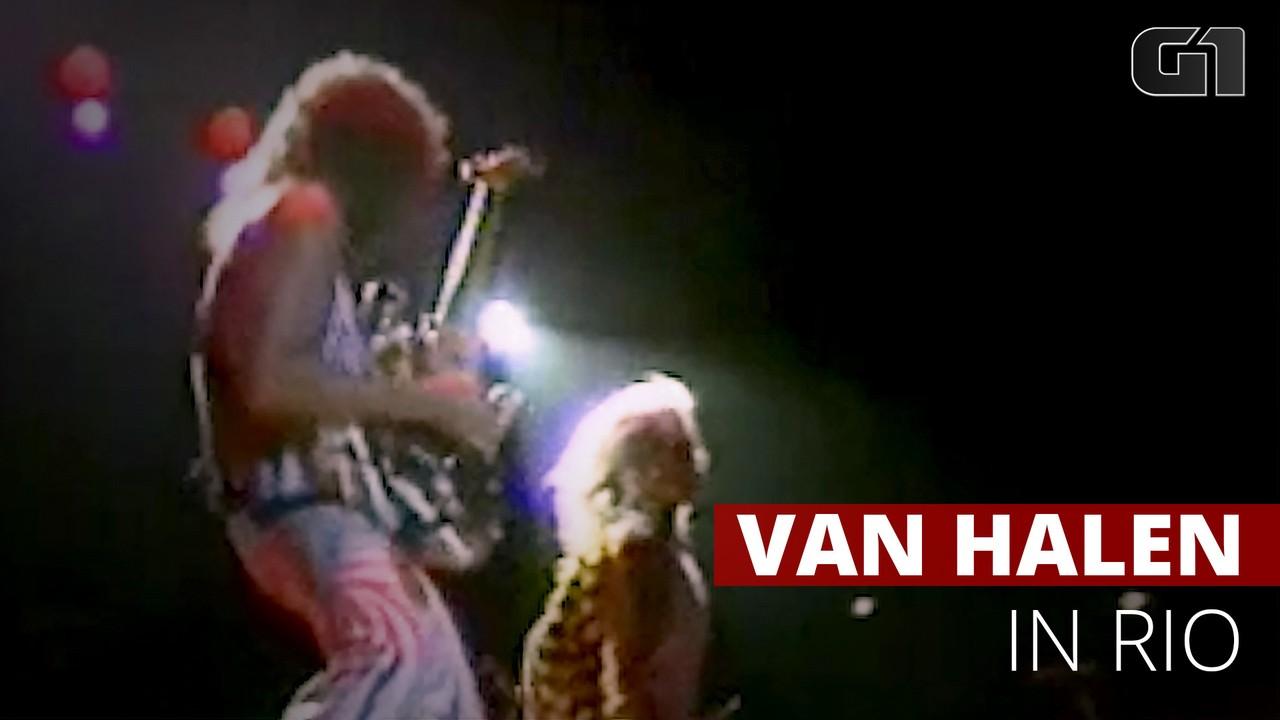 Veja imagens do show do Van Halen no Rio de Janeiro nos anos 80
