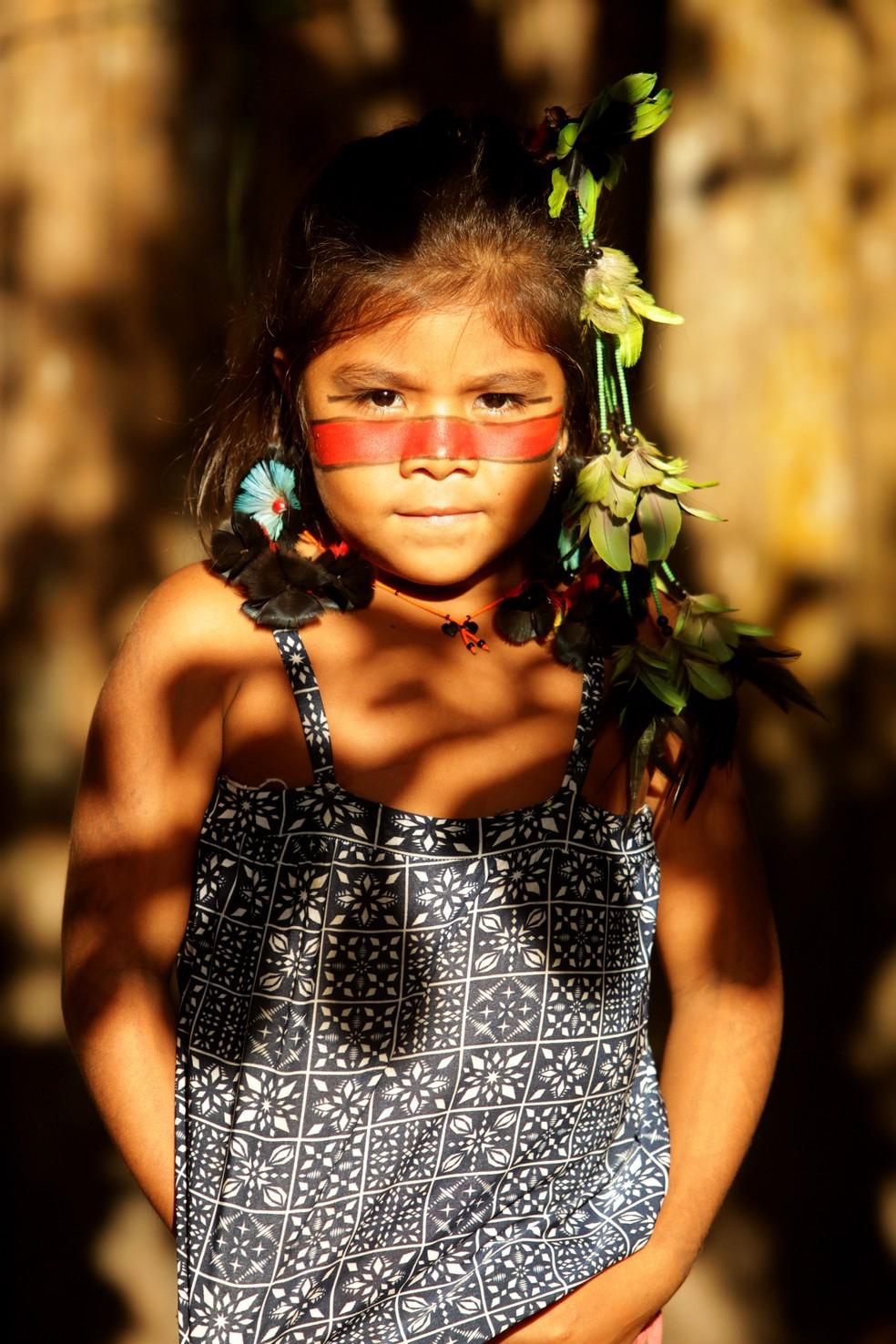Criança Tembé Tenetehara — Foto: Especial/Raimundo Paccó