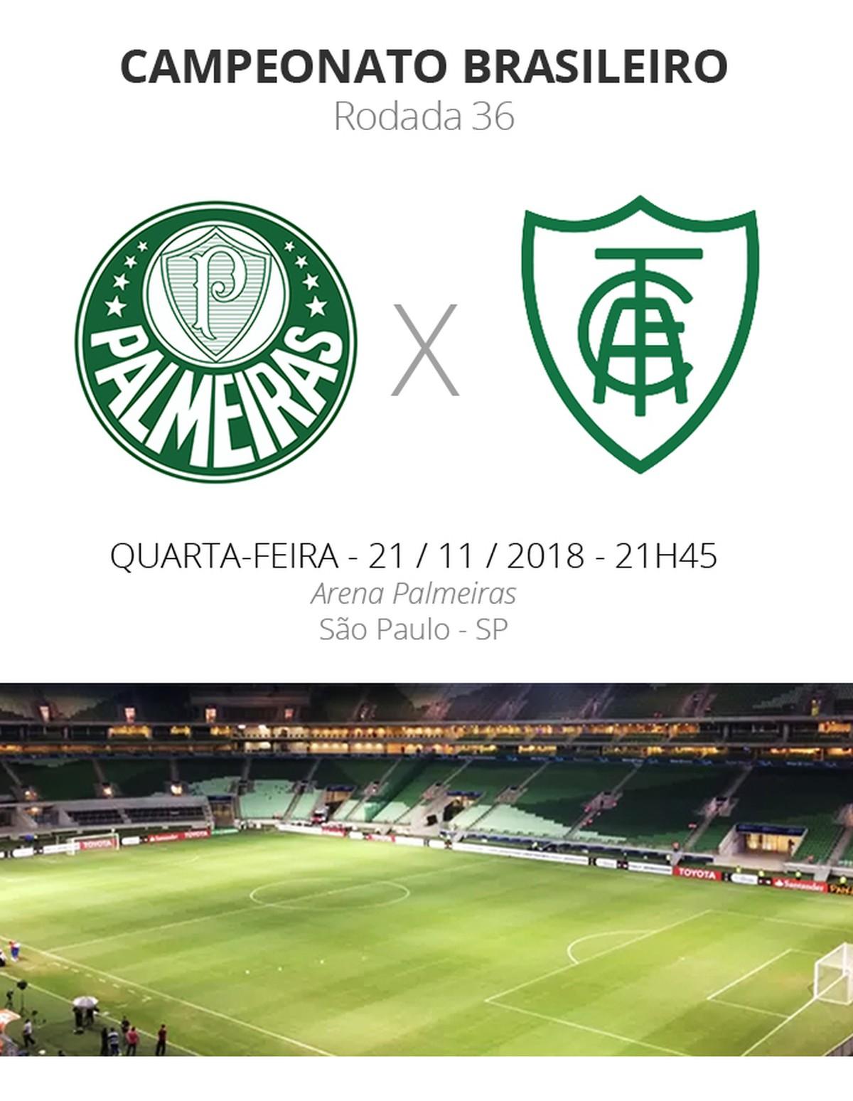 212614b886 Palmeiras x América-MG  tudo o que você precisa saber sobre o jogo da  rodada  36