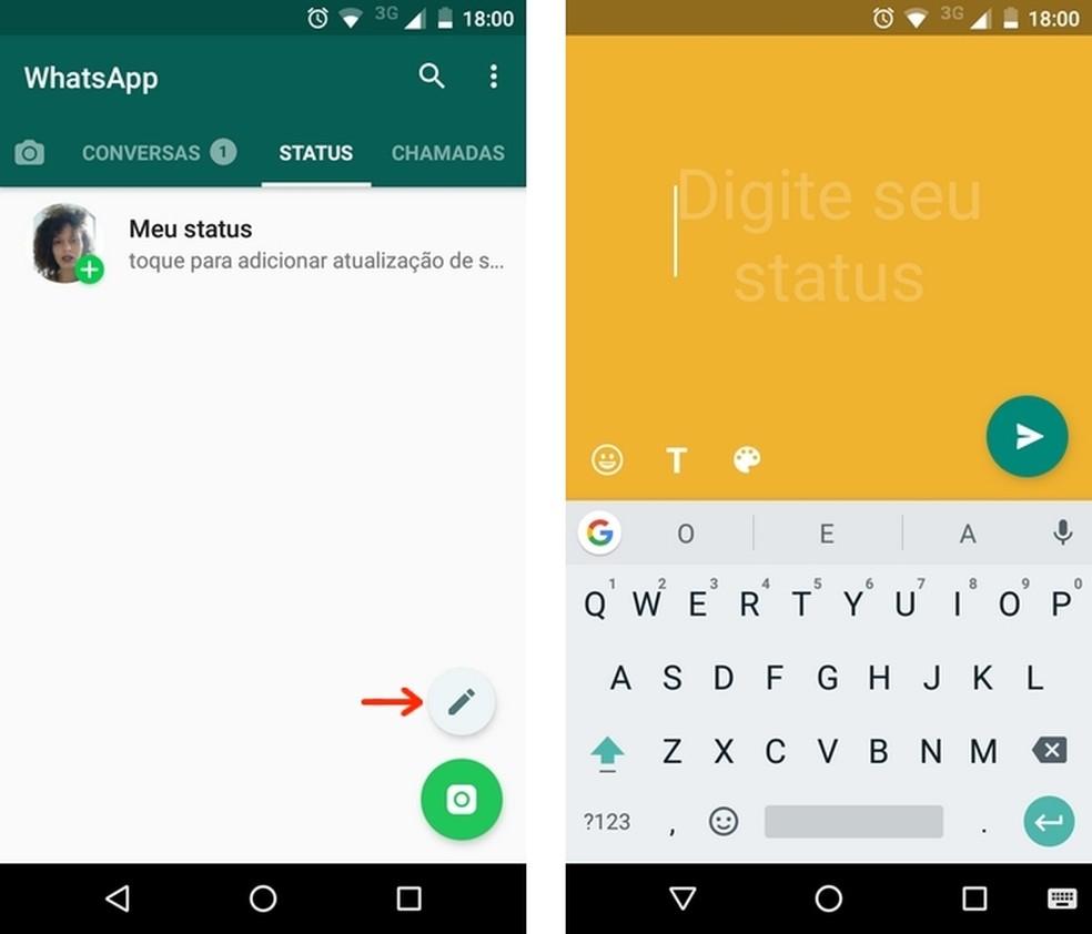 Como Publicar Status Em Texto No Whatsapp Post Some Em 24 Horas