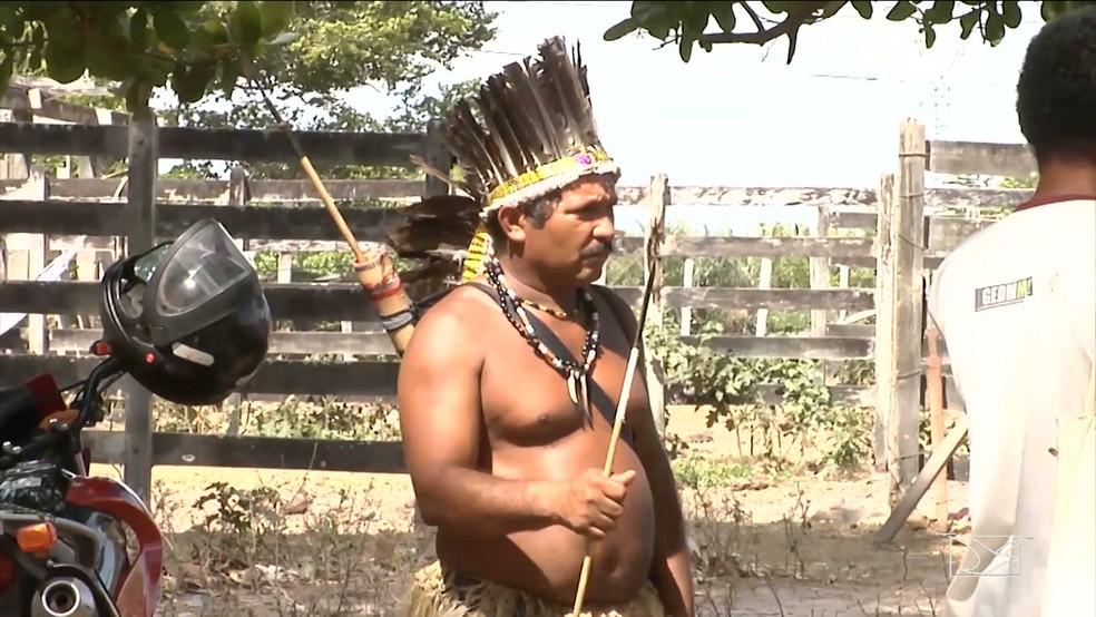 Índios afirmam que irão lutar pacificamente pelas terras. (Foto: Reprodução/TV Mirante)