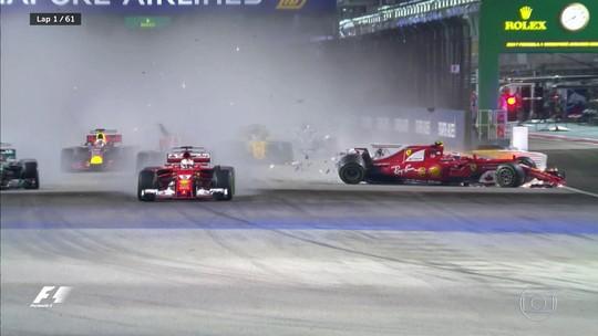 """Após caos na largada, Vettel se isenta de culpa: """"Não sei o que aconteceu"""""""