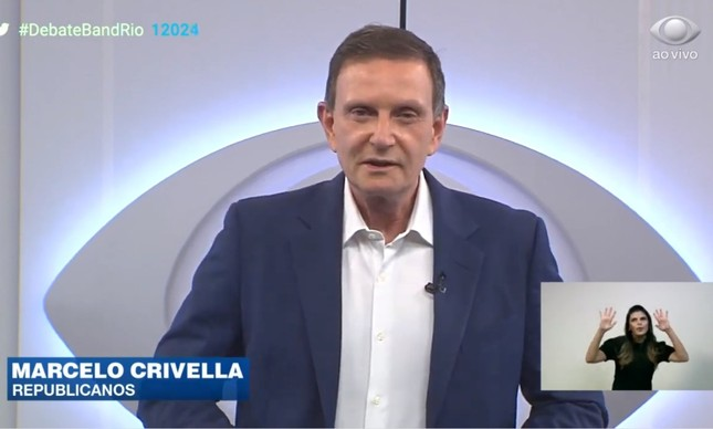 Marcelo Crivella se apresenta em primeiro debate para a prefeitura do Rio