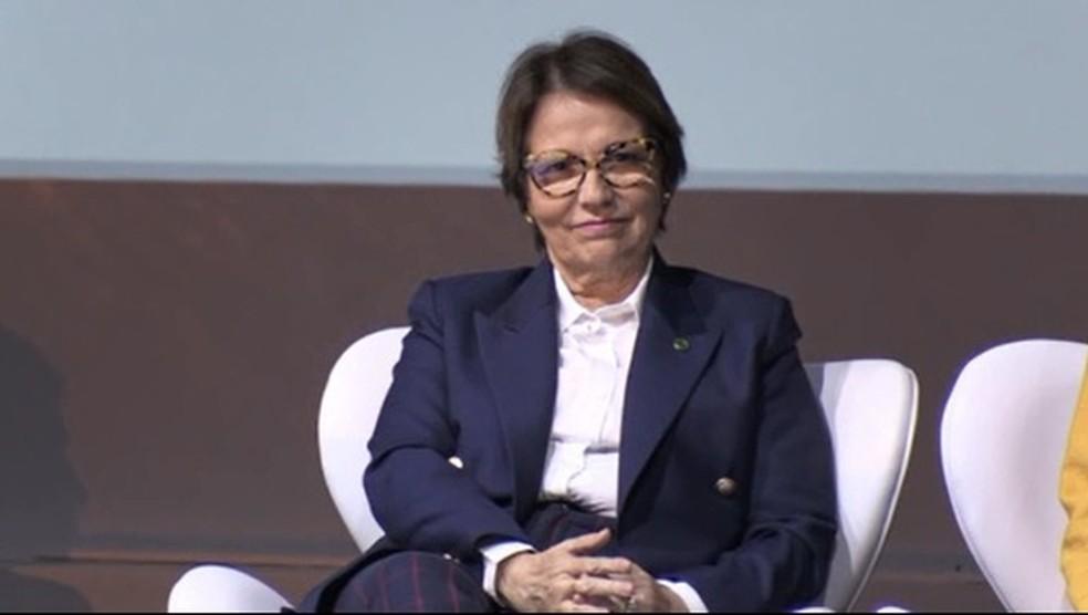 Ministra Tereza Cristina participou de evento em Londrina — Foto: Reprodução/RPC